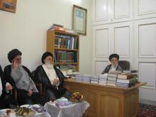 دیدار اعضای اتاقفکر و دبیرخانه نشست دورهای اساتید با آیتالله العظمی موسوی اردبیلی